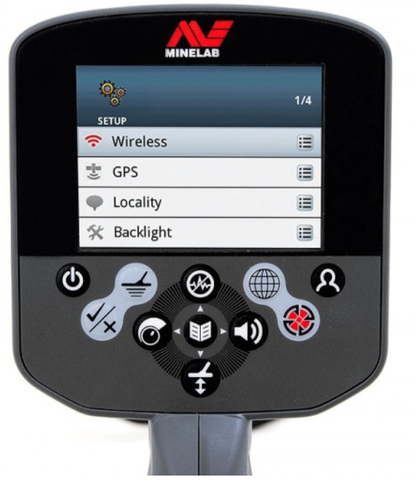 Minelab CTX 3030 Control Display