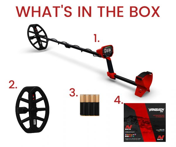 Minelab Vanquish what's in the Box