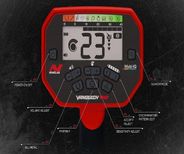 Minelab Vanquish 440 Control Panel
