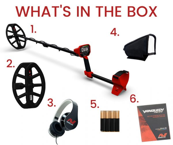 Minelab Vanquish 440 whats in the box