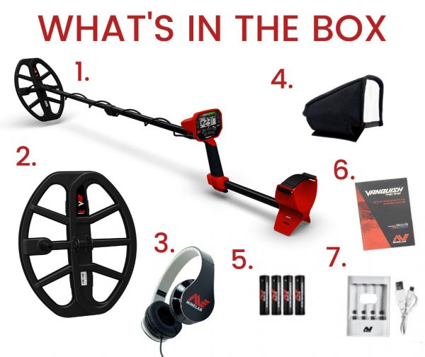 Minelab Vanquish 540 What's in the box